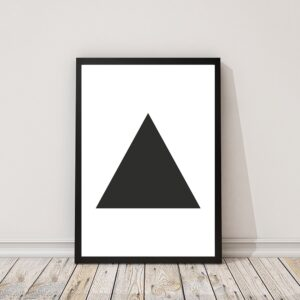 Zwart-wit poster Triangle