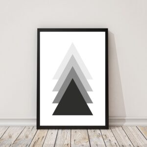 Zwart-wit poster triangles