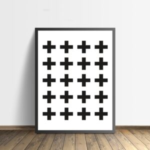 Zwart-wit poster Crosses