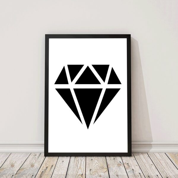 Zwart wit poster diamond