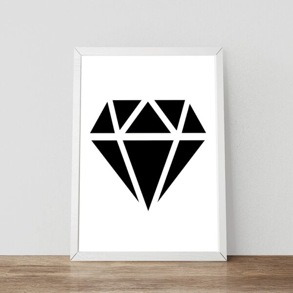 Zwart-wit poster Diamond