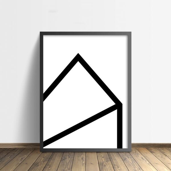 house zwart-wit poster