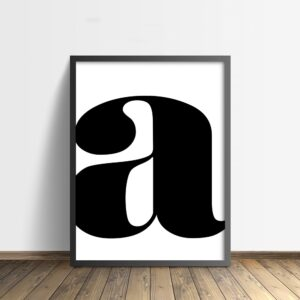 Letter poster a (serif)