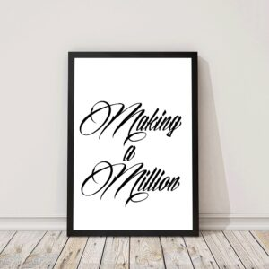 Poster met tekst making a million