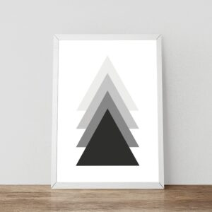 Triangles zwart-wit poster